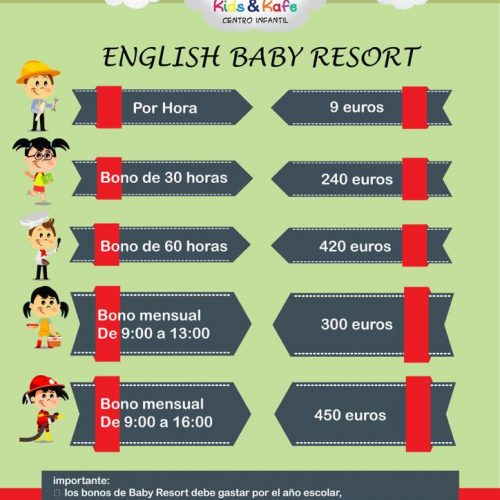 engilish baby resort