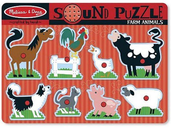 puzzle de animales de granja con ssonidos