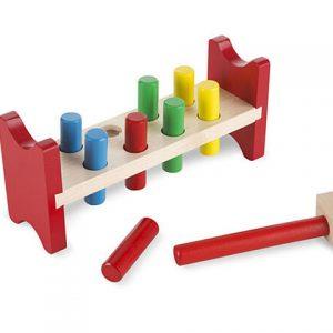 Juguete de madera clásico para golpear